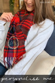 Personalised Womens Tartan Scarf by Solesmith