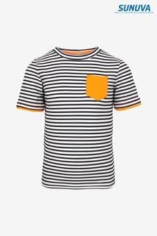 Sunuva Grey/White Short Sleeve Rash Vest