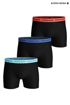 Bjorn Borg Solid Multi Sammy Shorts 3 Pack