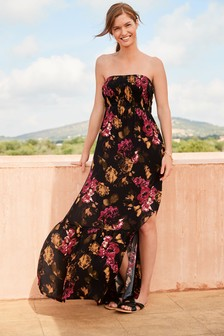 Floral Smocked Maxi Dress