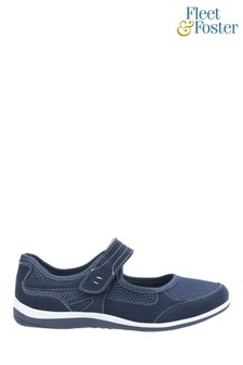 Fleet & Foster Blue Morgan Touch Fastening Shoes