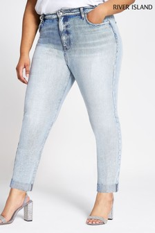 River Island Light Wash Authentic Mom Arnie Jeans