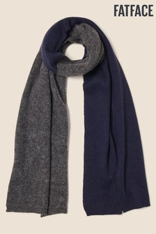 FatFace Blue Block Colour Scarf