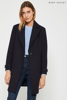 Mint Velvet Ink Boyfriend Coat