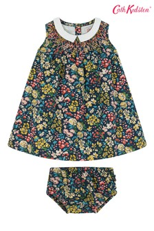 Cath Kidston® Blue Baby Flower Meadow Smocked Dress