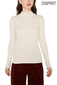 Esprit Long Sleeved Mock Neck Sweater