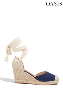 Oasis Blue Canvas Espadrille