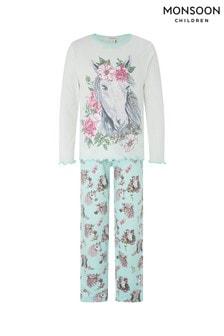 Monsoon Blue Nara Horse Jersey Pyjamas