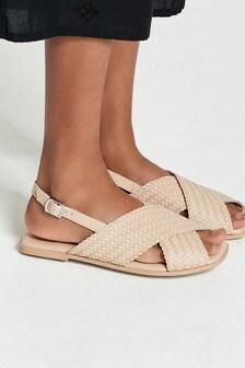 Forever Comfort® Square Toe Weave Slingback Sandals