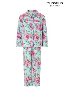 Monsoon Blue Brielle Flannel Pyjamas