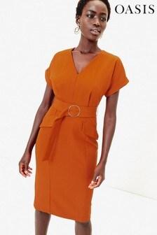 Oasis Utility-Kleid, Orange