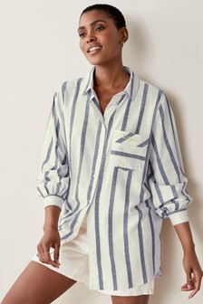 Embroidered Stripe Shirt