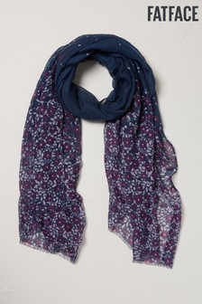 FatFace Blue Berry Floral Scarf