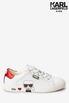 Karl Lagerfeld Kids White Trainers
