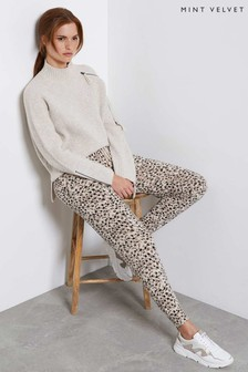 Mint Velvet Winnie Animal Print Joggers