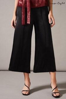 Phase Eight Black Lenka Satin Trousers