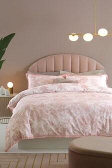 Cotton Rich Eden Palm Tassel Edge Duvet Cover And Pillowcase Set