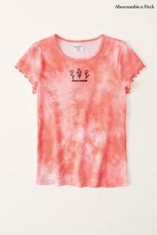 Abercrombie & Fitch Raw Hem Tie Dye T-Shirt