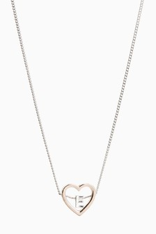 Heart Inset Initial Necklace