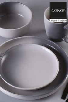 16 Piece Carnaby Grey Dinner Set