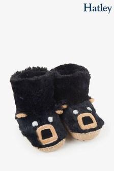 Hatley LBH Kid's Black Bear Slippers