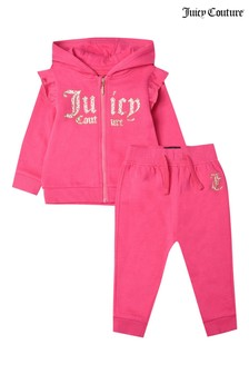Juicy Couture Leopard Hoody And Jogger Set