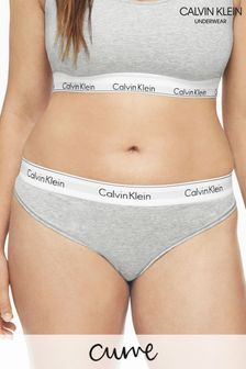 Calvin Klein Grey Modern Cotton Plus Bikini