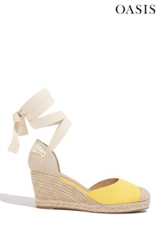 Oasis Yellow Canvas Espadrille