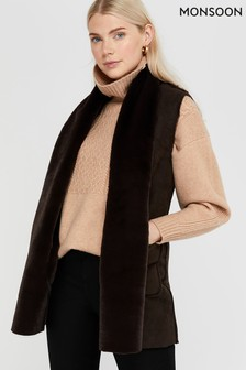 Monsoon Brown Sherry Suedette Gilet