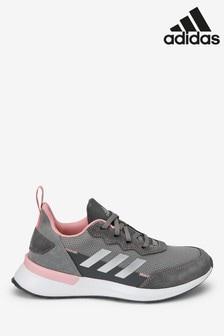 adidas Run Grey/Pink RapidaRun Youth Trainers