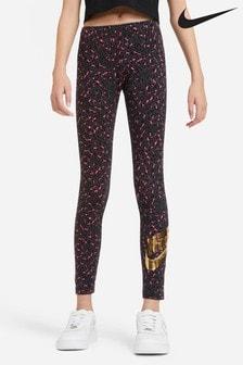 Nike Grey Leopard Print Leggings