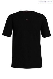 Tommy Hilfiger Black Motion Flag Logo T-Shirt