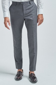 Gingham Check Suit: Trousers