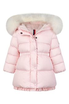 Baby Girls Light Pink Down Padded Kithera Coat