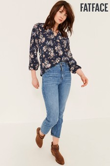 FatFace Blue Rosie Polkadot Meadow Blouse