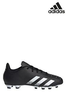 adidas Black Kids Predator P4 Turf Football Boots
