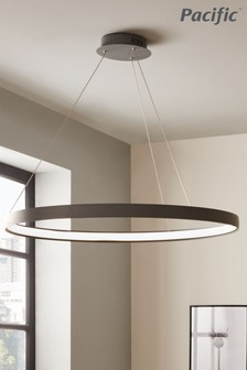 Orion Grey LED Round Pendant by Pacific Lighting