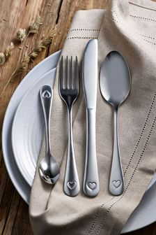 16 Piece Heart Cutlery Set