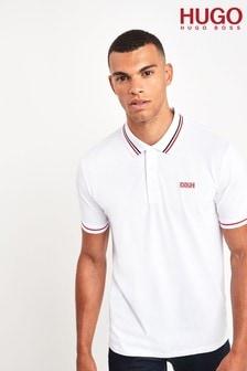 HUGO White Daruso Poloshirt