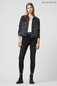 AllSaints Black High Waisted Phoenix Jeans