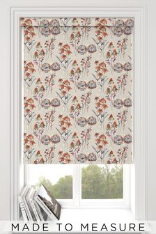 Forage Autumn Orange Made To Measure Roller Blind