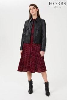 Hobbs Black Elise Leather Jacket