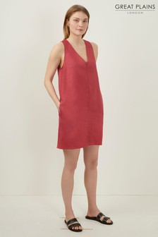 Great Plains Red Dana Blend V-Neck Dress