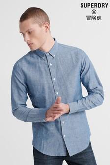 Superdry Edit Linen Button Down Shirt