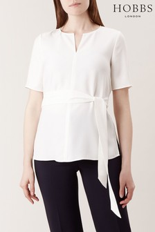 Hobbs White Lacey Top