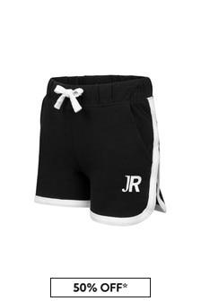 John Richmond Girls Black Cotton Shorts