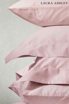 Set of 2 Blush 400 Thread Count Cotton Pillowcases