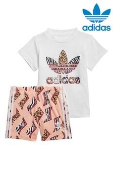 adidas Originals Little Kids Zig Zag T-Shirt And Shorts Set