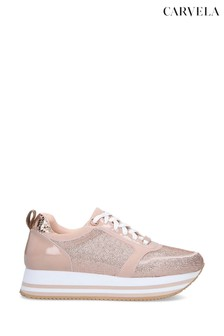 Carvela Langley Nude Trainers