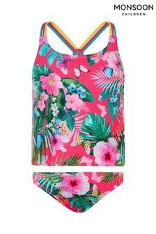 Monsoon Pink Palm Print Tankini Set
